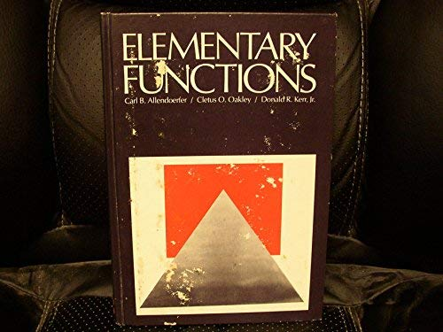 9780070013711: Elementary Functions