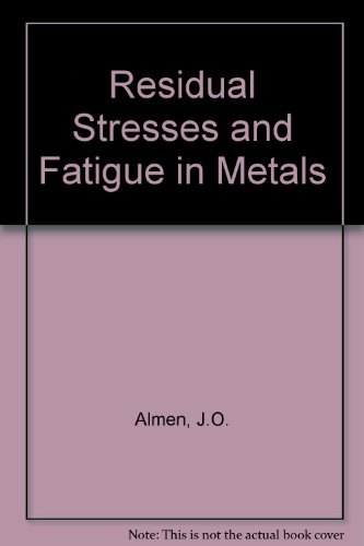 9780070013940: Residual Stresses And Fatigue In Metals