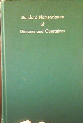 9780070014831: Standard Nomenclature of Diseases and Operations