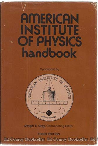 9780070014855: American Institute of Physics Handbook, Third Edition