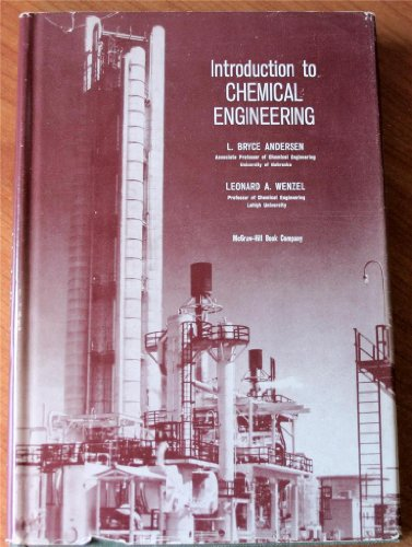 9780070016071: Introduction to Chemical Engineering