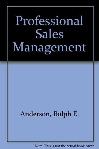 9780070016767: Professional Sales Management (McGraw-Hill series in marketing)