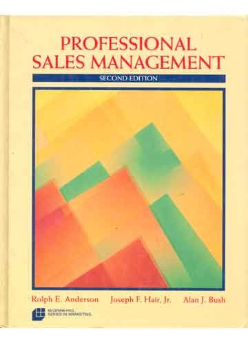 9780070016866: Professional Sales Management (Mcgraw Hill Series in Marketing)