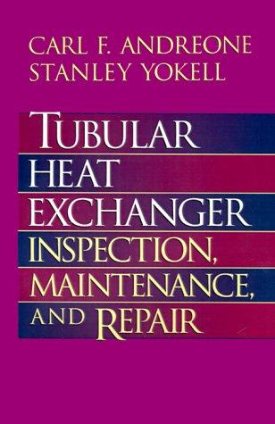 9780070017788: Tubular Heat Exchanger: Inspection, Maintenance and Repair