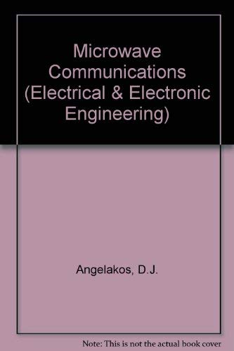 9780070017894: Microwave Communications (Electrical & Electronic Engineering S.)