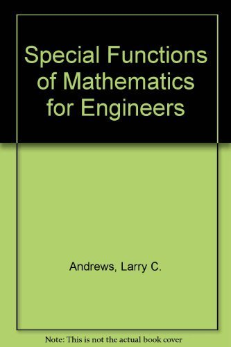 9780070018488: Special Functions of Mathematics for Engineers
