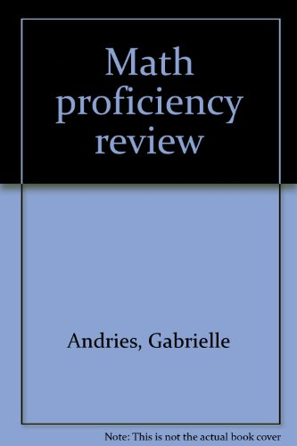 9780070019706: Math proficiency review