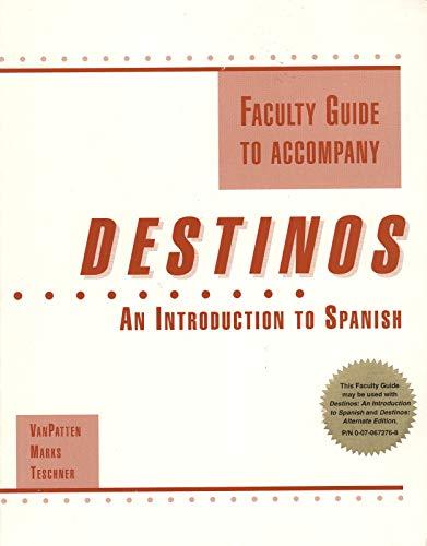 9780070020719: Destinos: Faculty Guide
