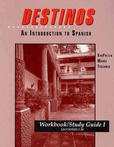 9780070020726: Workbook/Study Guide I (Lessons 1-26) to accompany Destinos: An Introduction to Spanish