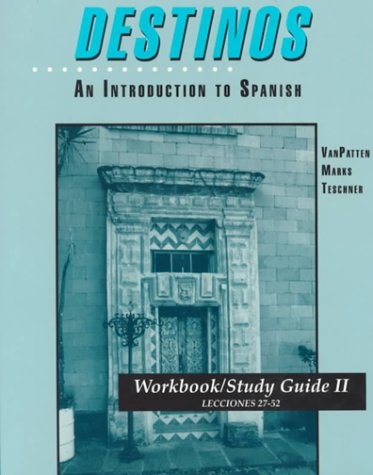 9780070020733: Workbook/Study Guide II Lessons 2752 to Accompany Destinos: An Introduction to Spanish