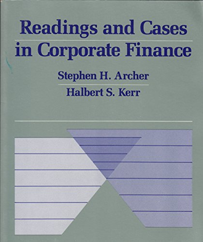 9780070021914: Readings and Cases in Corporate Finance