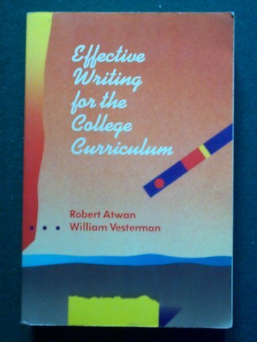 9780070024397: Effective Writing for the College Curriculum