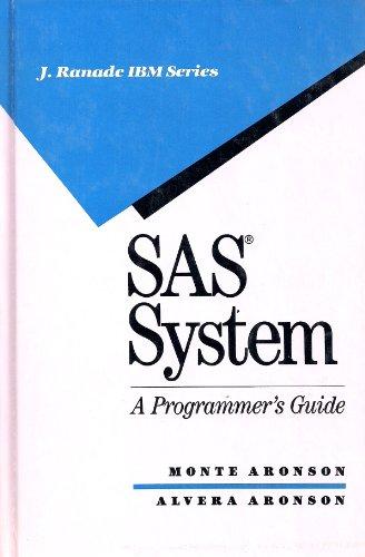 9780070024670: Sas System: A Programmer's Guide (J Ranade Ibm Series)