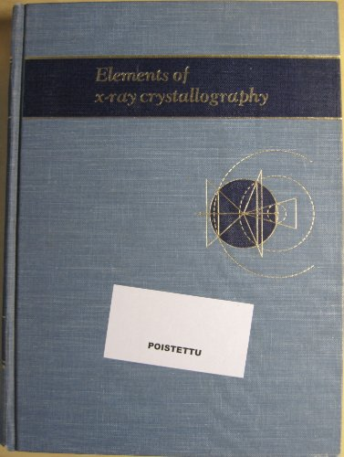 9780070026674: Elements of X-ray Crystallography