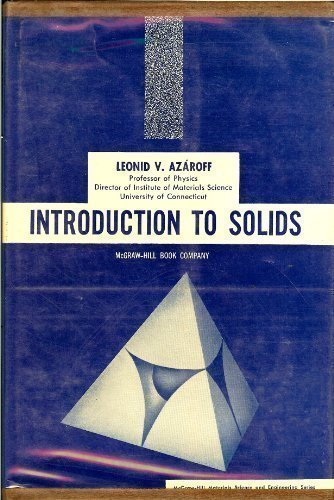 Introduction to solids.: Azaroff, Leonid V.