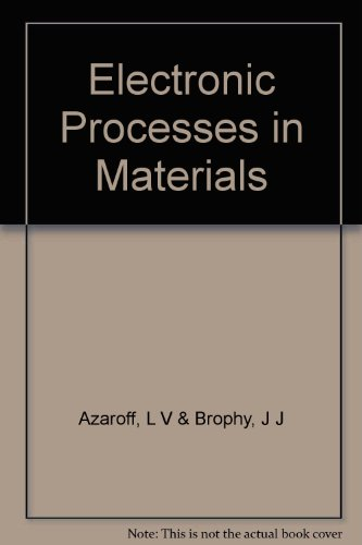 Electronic Processes in Materials: Leonid V. Azaroff;