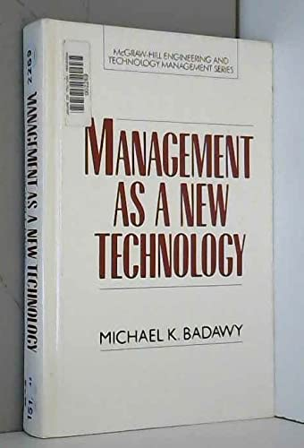 9780070029880: Management As a New Technology (Mcgraw-Hill Engineering and Technology Management)