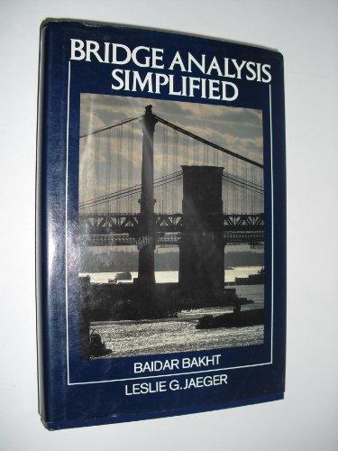 9780070030206: Bridge Analysis Simplified (McGraw-Hill infrastructure series)