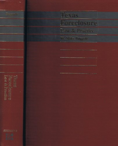 9780070030275: Texas Foreclosure: Law and Practice/With Supplement