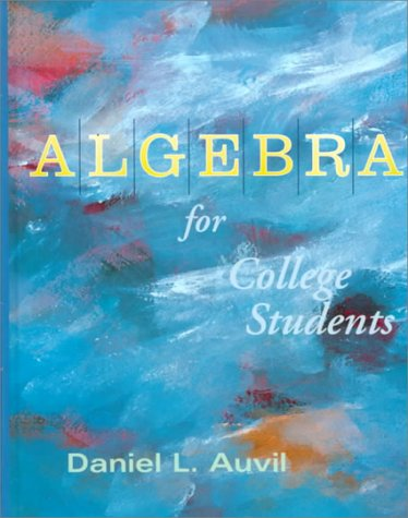 9780070031067: Algebra for College Students