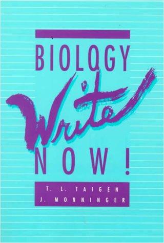 9780070031432: Biology Write Now!