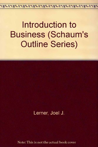 9780070033450: Introduction to Business (Schaum's Outline Series)
