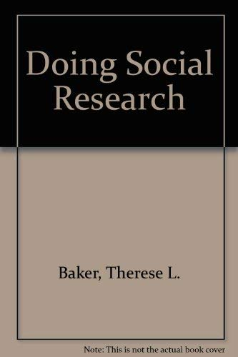 9780070034532: Doing Social Research
