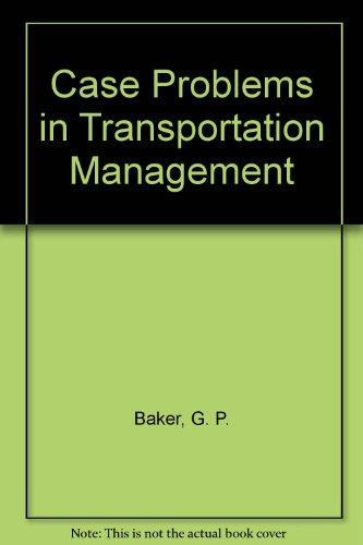 9780070034600: Case Problems in Transportation Management
