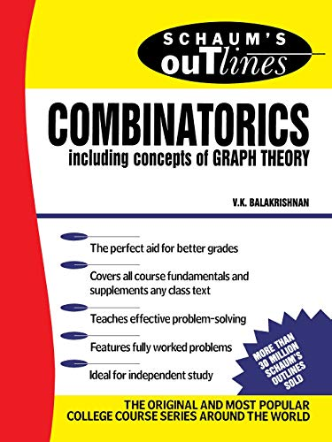 9780070035751: Schaum's Outline of Theory and Problems of Combinatorics including concepts of Graph Theory