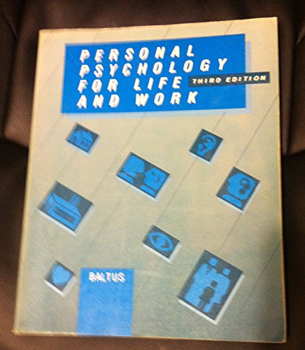 9780070035904: Personal Psychology for Life and Work