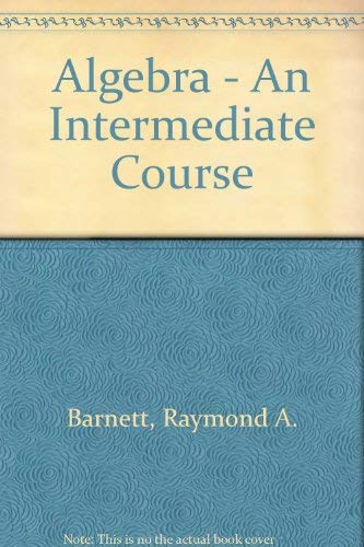 9780070037441: Algebra - An Intermediate Course