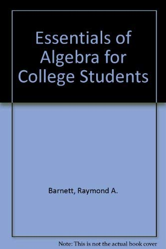 9780070037564: Essentials of Algebra for College Students