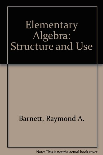 9780070037816: Elementary algebra: structure and use