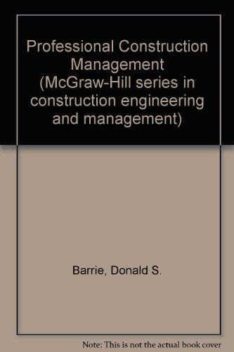 Professional Construction Management Control: Boyd C. Paulson;
