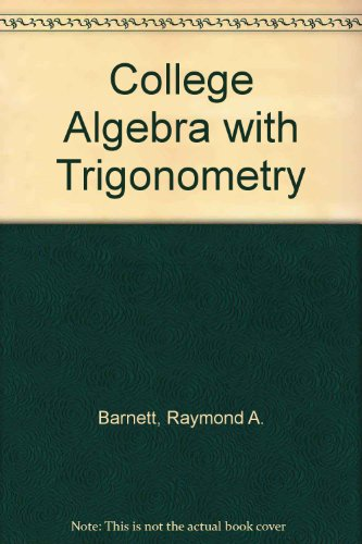 9780070038646: College Algebra with Trigonometry