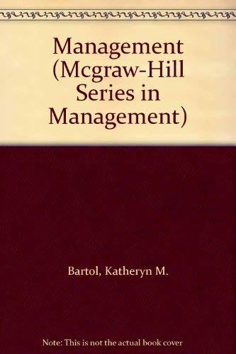 Management: Bartol, Kathryn M. & Martin, David C