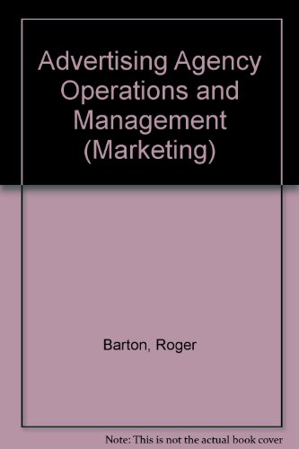 9780070039704: Advertising Agency Operations and Management (Marketing)