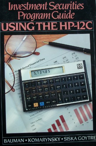 9780070041042: Investment Securities Program Guide: Using the Hp-12C