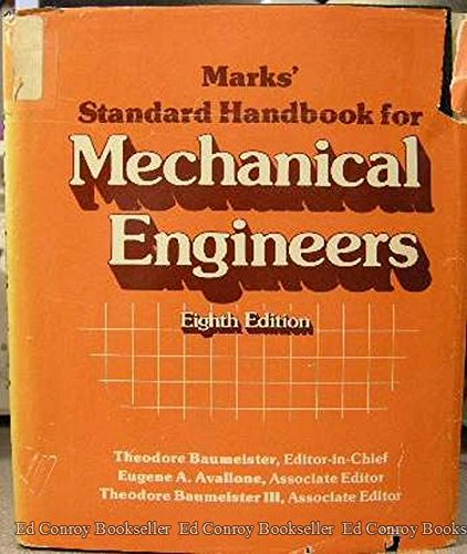 9780070041233: Marks' Standard Handbook for Mechanical Engineers, 8th Edition