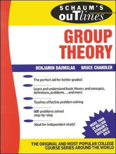 9780070041240: Schaum's Outline of Group Theory (Schaum's Outline Series)