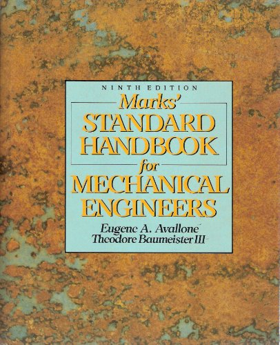 9780070041271: Marks' Standard Handbook for Mechanical Engineers