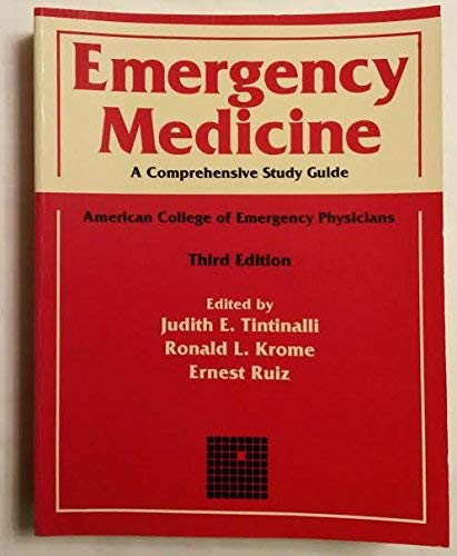 9780070041592: Emergency Medicine: A Comprehensive Study Guide : American College of Emergency Physicians