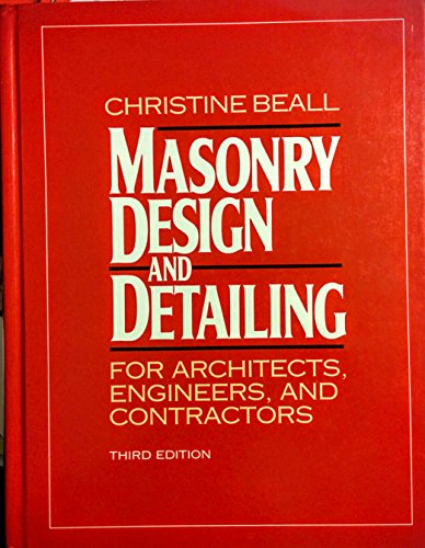9780070043121: Masonry Design and Detailing: For Architects, Engineers, and Contractors