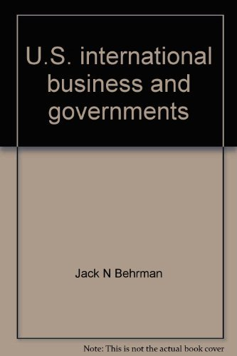 9780070043619: U.S. international business and governments (McGraw-Hill Series in international business)