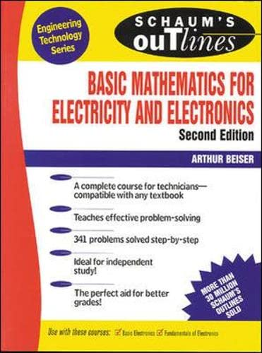9780070044395: Schaum's Outline of Basic Mathematics for Electricity and Electronics (Schaum's Outline Series)