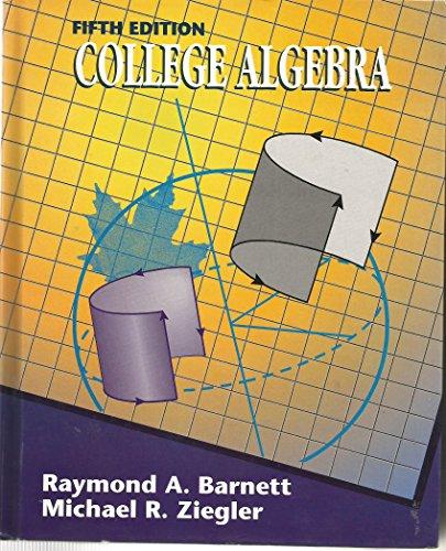 9780070049956: College Algebra