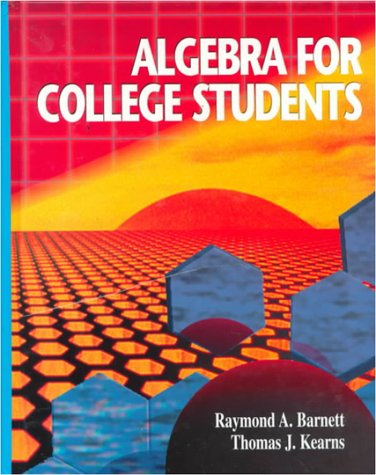 9780070050013: Algebra for College Students