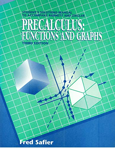 9780070050075: Precalculus: Functions and Graphs
