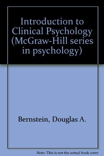 9780070050167: Introduction to Clinical Psychology (McGraw-Hill series in psychology)