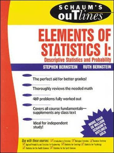 9780070050235: Schaum's Outline of Elements of Statistics I: Descriptive Statistics and Probability